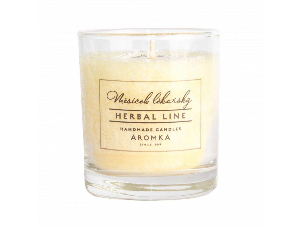Přírodní vonná svíčka palmová AROMKA Herbal Line Měsíček lékařský