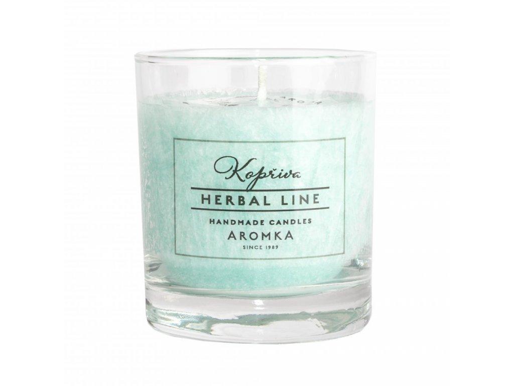 Přírodní vonná svíčka palmová AROMKA Herbal Line Kopřiva