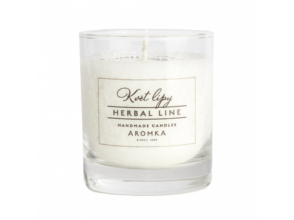 Přírodní vonná svíčka palmová AROMKA Herbal Line Květ Lípy