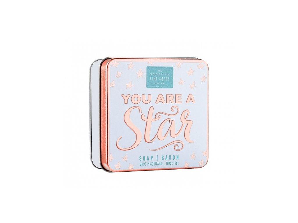 scottish fine soaps mydlo v plechu you are a star 100 g