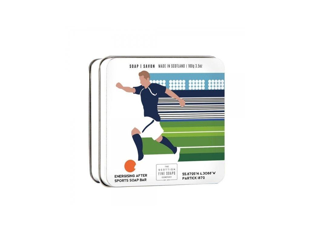 fotbal scottish fine soaps mydlo v plechu fotbal 100g