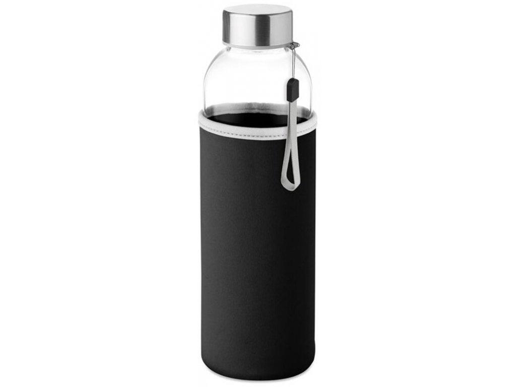 skleněná lahev s neoprenovým obalem