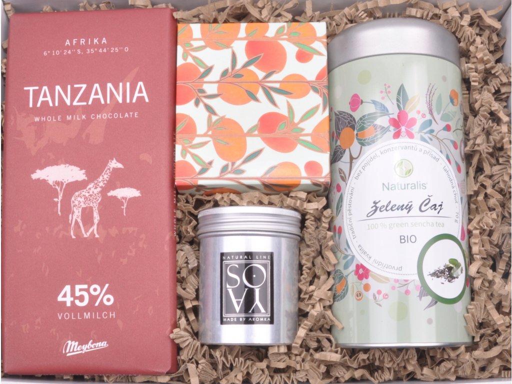 Dárkový balíček Čajová chvilka - zelený čaj StoryBOX®