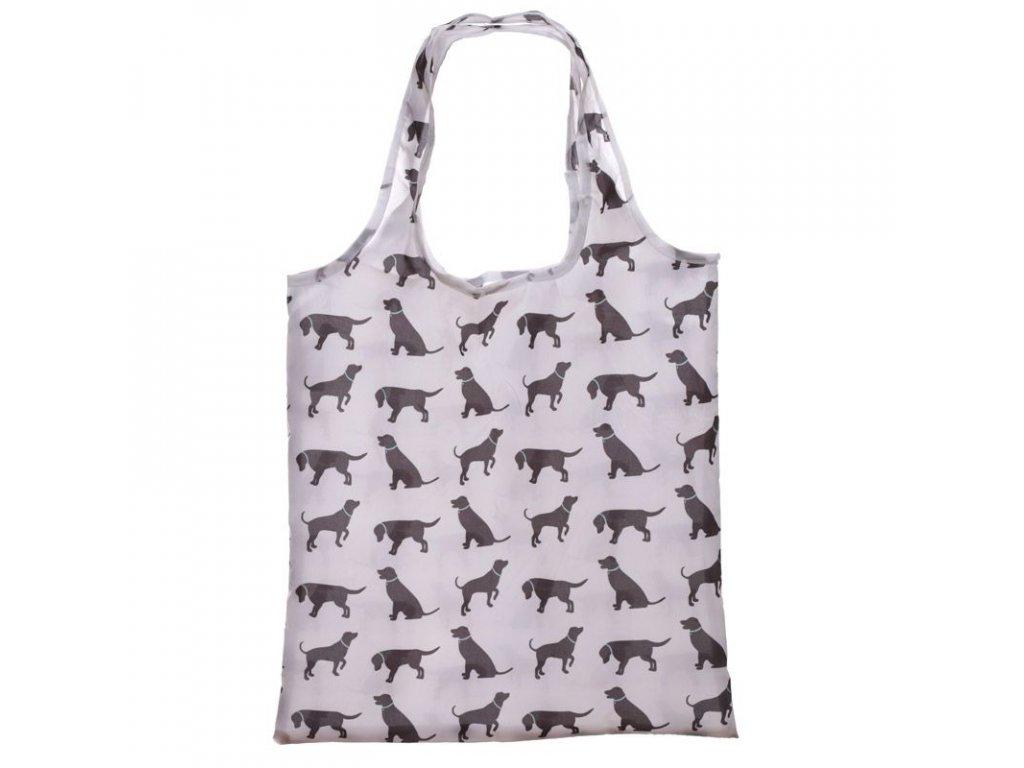 Skládací nákupní taška Pes 2