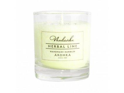 Přírodní vonná svíčka palmová AROMKA Herbal Line Meduňka