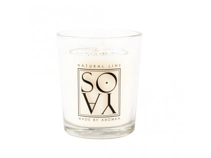 Přírodní vonná svíčka sójová AROMKA Konusový váleček, 80 ml Květ Bavlny