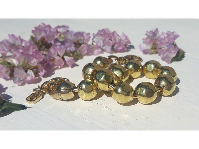 Kuličkový náramek - mosaz  WP Large Ball Chain Bracelet with extender - Brass