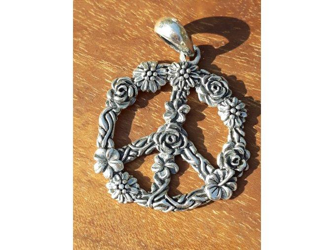 peace flower pendant