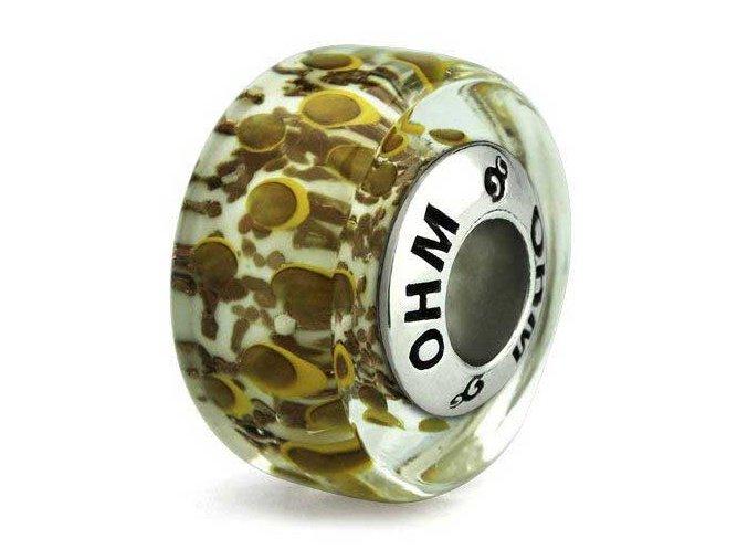 coins glass bead ohm bead