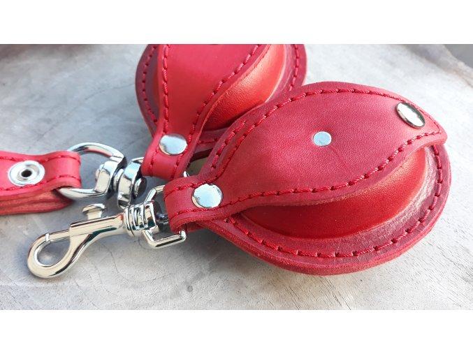 kožená šperkovnička ovál- červená