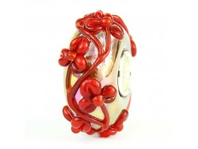 GOLD OIL BRIGHT RED FLOWERTWIG G191211