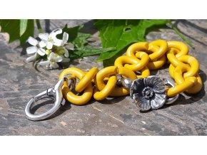 náramek s vlčím mákem- Mellow Yellow Poppy Decadence Bracelet