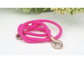 růžová/ bronz pink/ bronze asian cord 40 cm