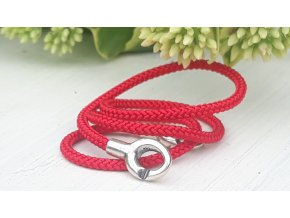červená/ stříbro red / silver asian cord 35 cm