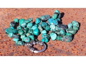 náhrdelník z tyrkysů- Higher Ground Strand - Oasis - Turquoise & Sterling Silver