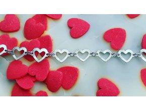 Srdíčkový náhrdelník 50 cm