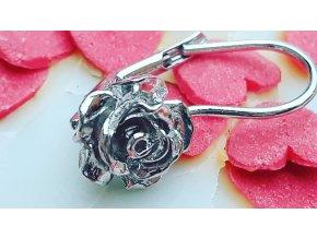 Náušnice s růží