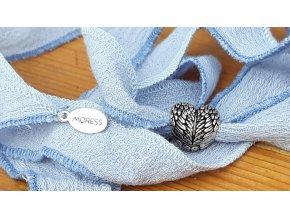 Bavlnená pentle světle modrá