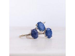 prsten modrý křemen
