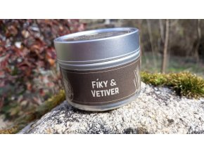 Malá sójová svíčka Fíky & Vetiver