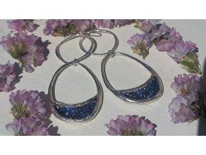 náušnice s modrým leskem - WP Kristal Lifted Link Drop Earrings