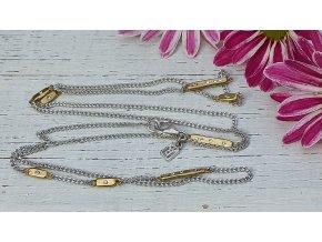 Rozsypané hvězdy - Bar Star Scatter Chain 71 cm