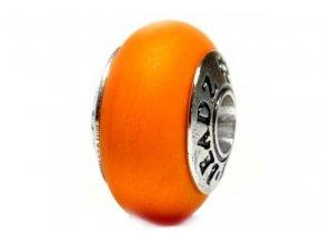 668532 pumpkin glass bead