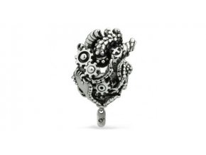 ohm beads heart engine silver bead