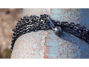 tmavý náhrdelník 90 cm