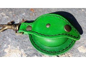 kožená šperkovnice kulatá- zelená