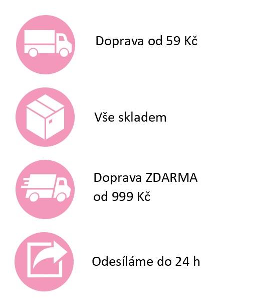 Doprava zdarma, odeslání do 24 h, vše skladem, doprava od 59 Kč