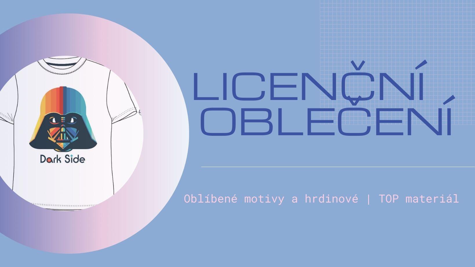 Licenční oblečení, pohádkové motivy, filmoví hrdinové