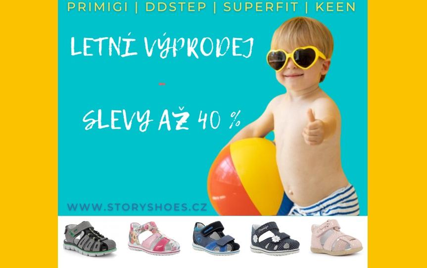 Výprodej až 40 % na letní obuv