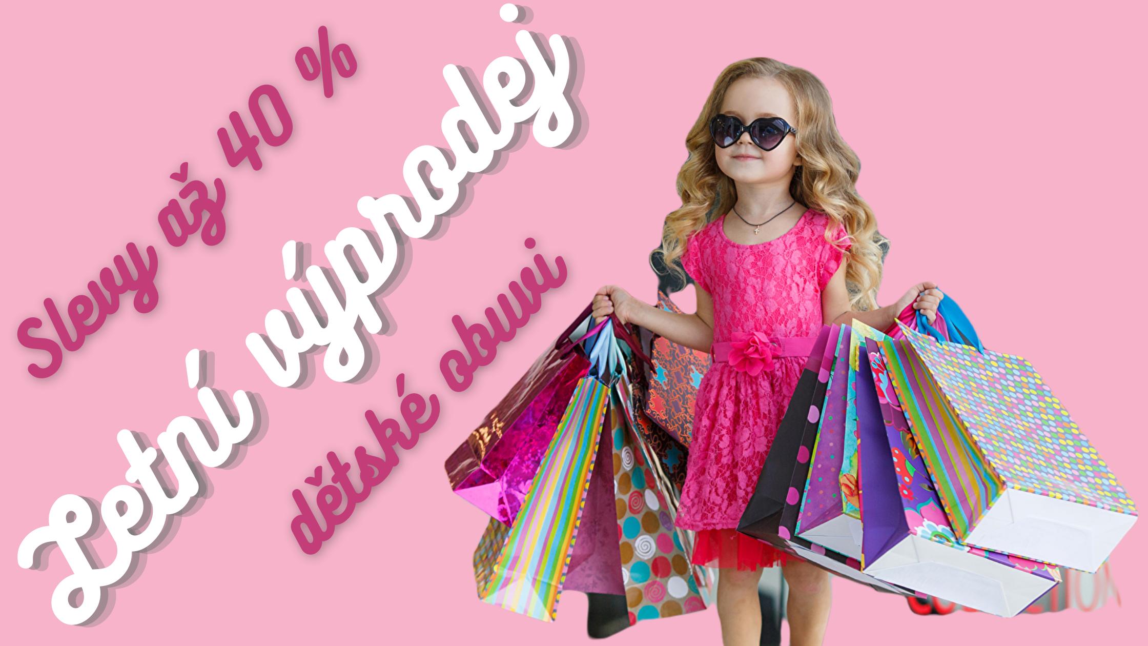 Výprodej dětské obuvi až 40 %