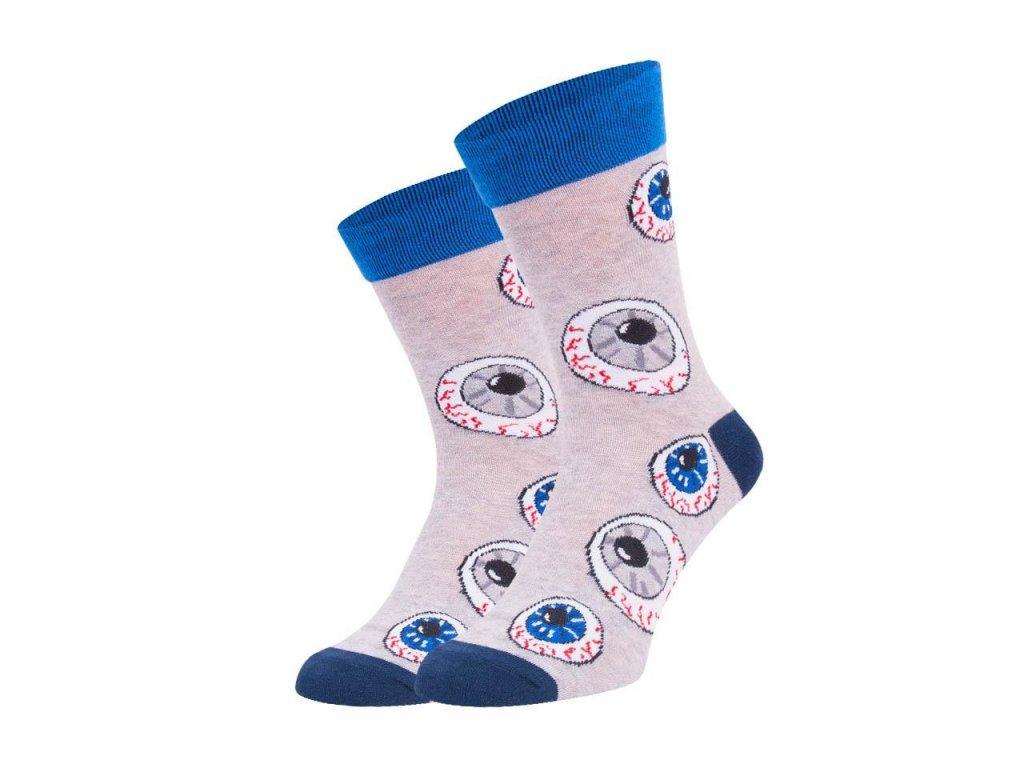 Ponožky spoksy oko šedé