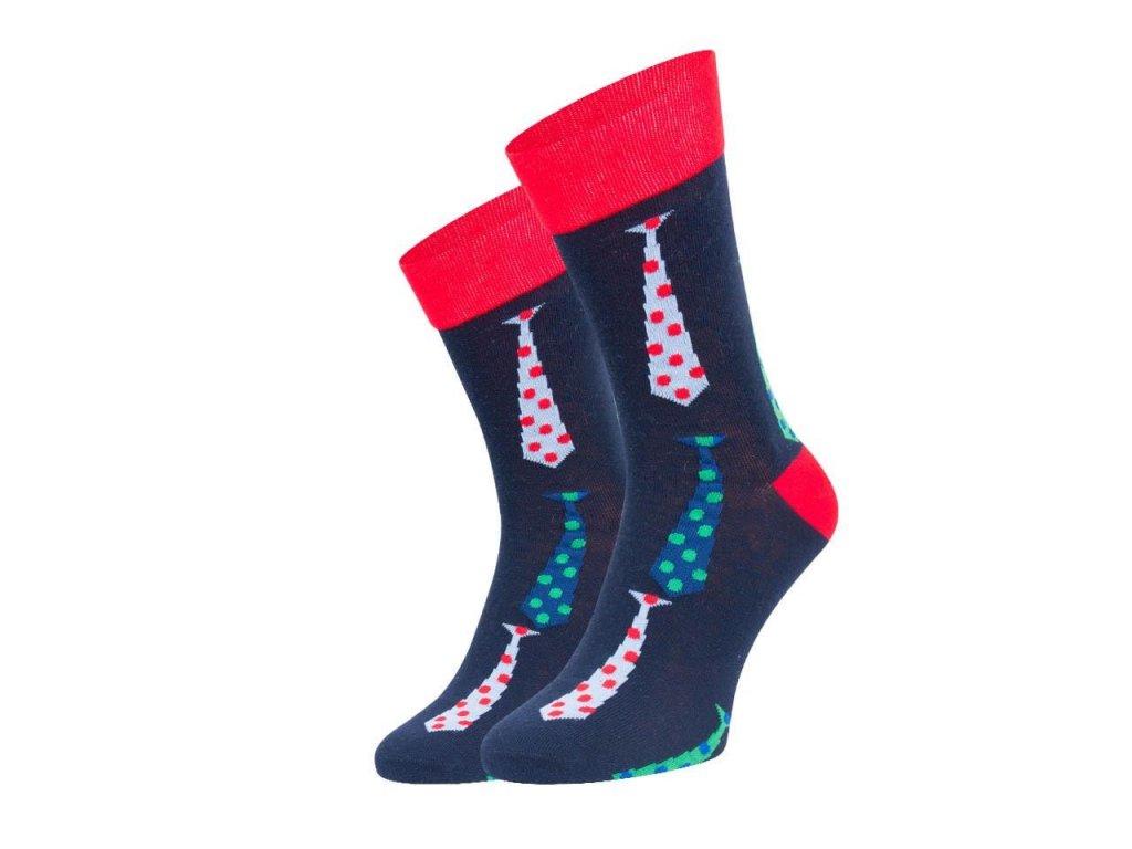 Ponožky spoksy Kravata modrá