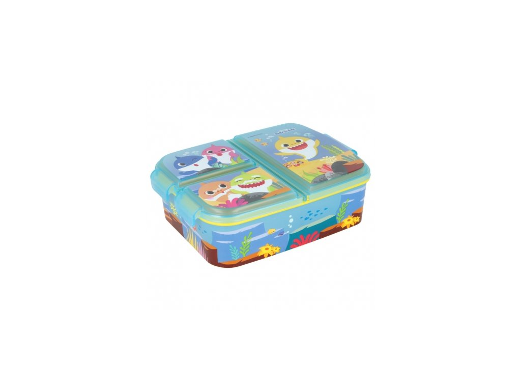 multi compartment sandwich box baby shark