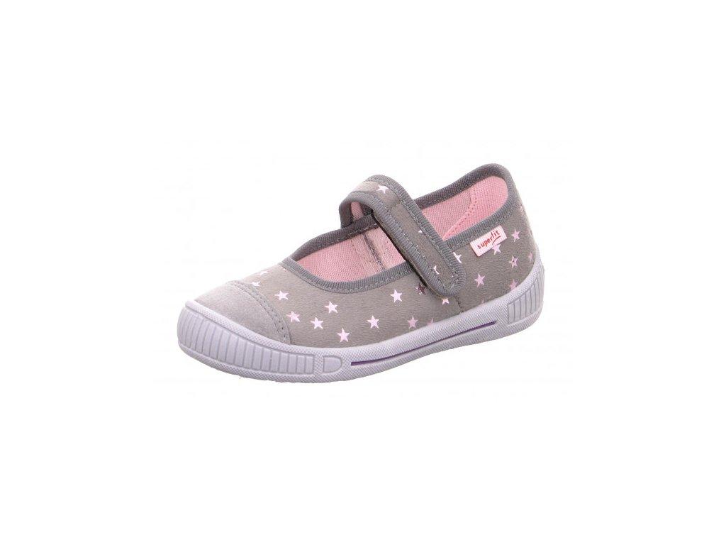 Superfit 1-000261-2000 béžovošedá papuče