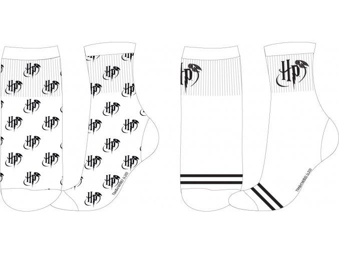 Ponožky Harry Potter | 52 34 261 | Bílé - SPORT