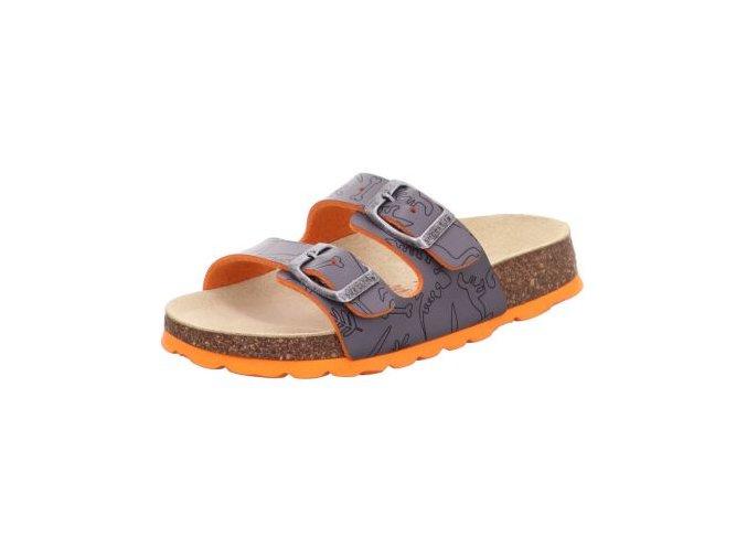 Papuče Superfit 0-800111-2010 | Šedo-oranžové