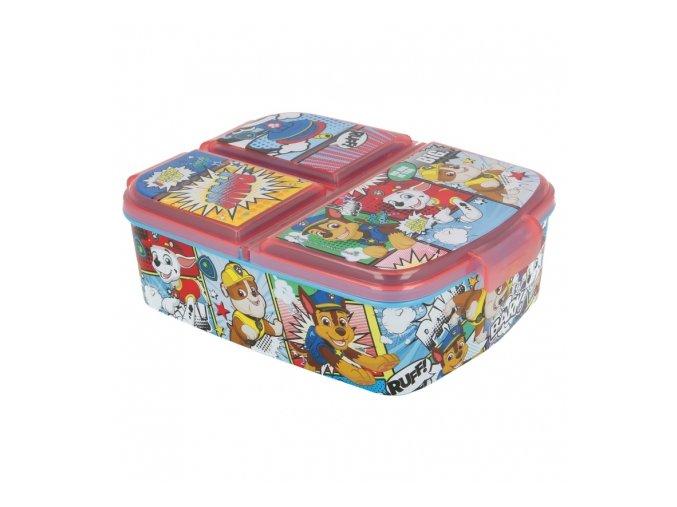 multi compartment sandwich box paw patrol comic