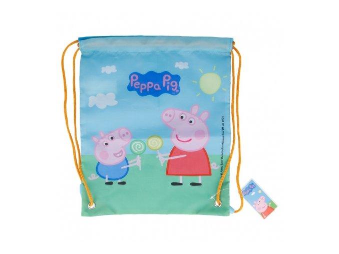 drawstring lunch bag peppa pig