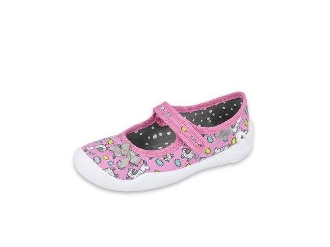 Papuče Befado 114x416 | Světle růžové
