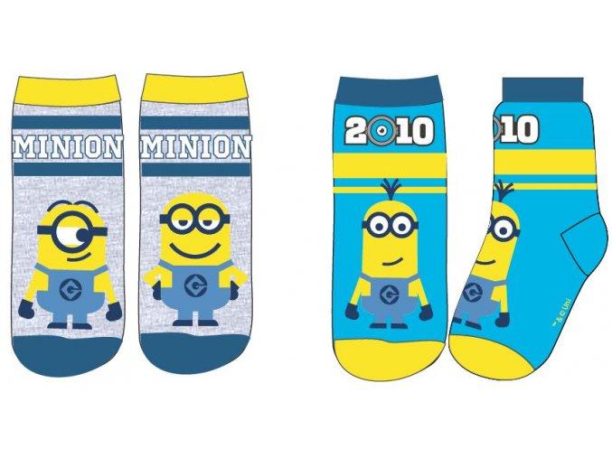 Ponožky Mimoni   52 34 548   Modrá / šedá