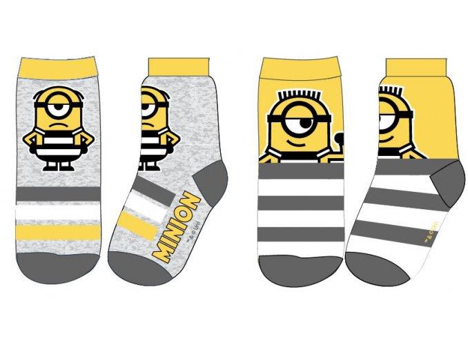 Ponožky Mimoni | 52 34 571 | Žlutá / šedá