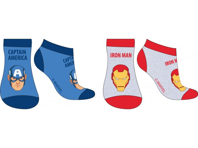 Ponožky Avengers | 52 34 046 | Modrá / šedá