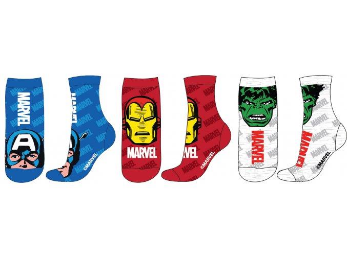 Ponožky Avengers | 52 34 308 | Modrá / červená / šedá