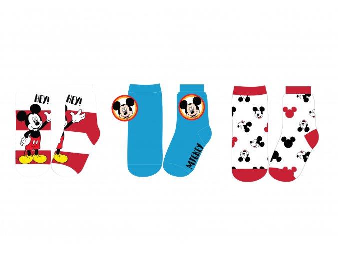 Ponožky Mickey Mouse | 52 34 8260 | Červeno-bílé / modré / bílo-červené