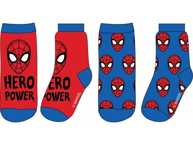 Ponožky Spiderman | 52 34 1148 | Modrá / červená
