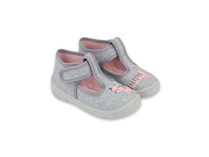 Papuče Befado 531P072 | Světle šedé
